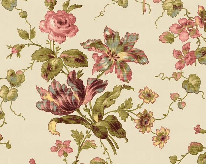 Penny Rose Riley Blake cotton fabric - Isabella Main PR4690 Cream
