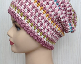 Colorful hat for sommer/ cotton linen and viscose for fashionable and stylish women