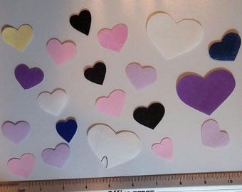20 Hearts Iron on Fabric Appliques Pre-Cut Kids Quilting Crafting Scrapbooking