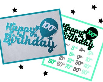 Toppers - Special Birthdays from 16 to 90