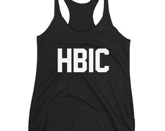 Funny HBIC - Head B***h in Charge Women's Racerback Tank