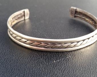 Vintage Western Cuff Sterling Silver Bracelet southwestern