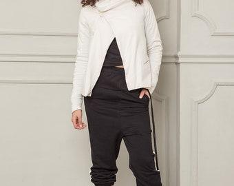 White Blazer, Summer Jacket, Blazer Jacket, Women Blazer, Short Jacket, Asymmetrical Jacket, Cotton Jacket, Plus Size Jacket,Oversize Jacket