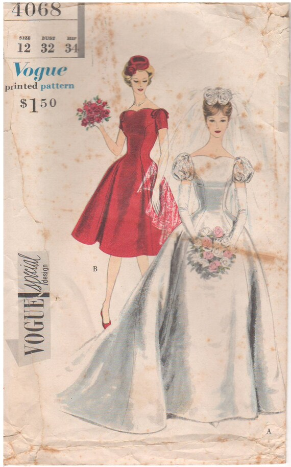 1959 Vogue 4068 Vintage Sewing Pattern Special Design Size