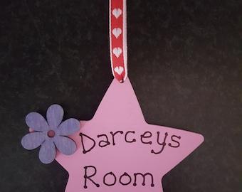 Handmade Personalised Hanging Star