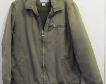 A Men's Vintage 90's,Quilted Olive Green MECHANICS Coat by OLD NAVY.S(40R)