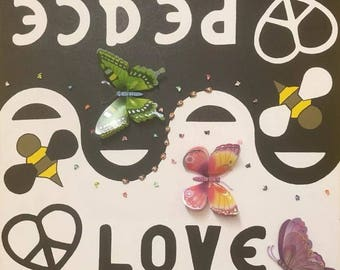 Peace And Love - Acrylic Painting