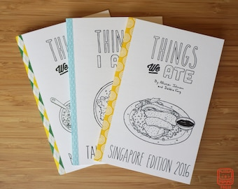 Things We Ate BUNDLE: Brazil, Taiwan, and Singapore Illustrated Food & Travel Zines by Allistair Johnson and Debbie Fong