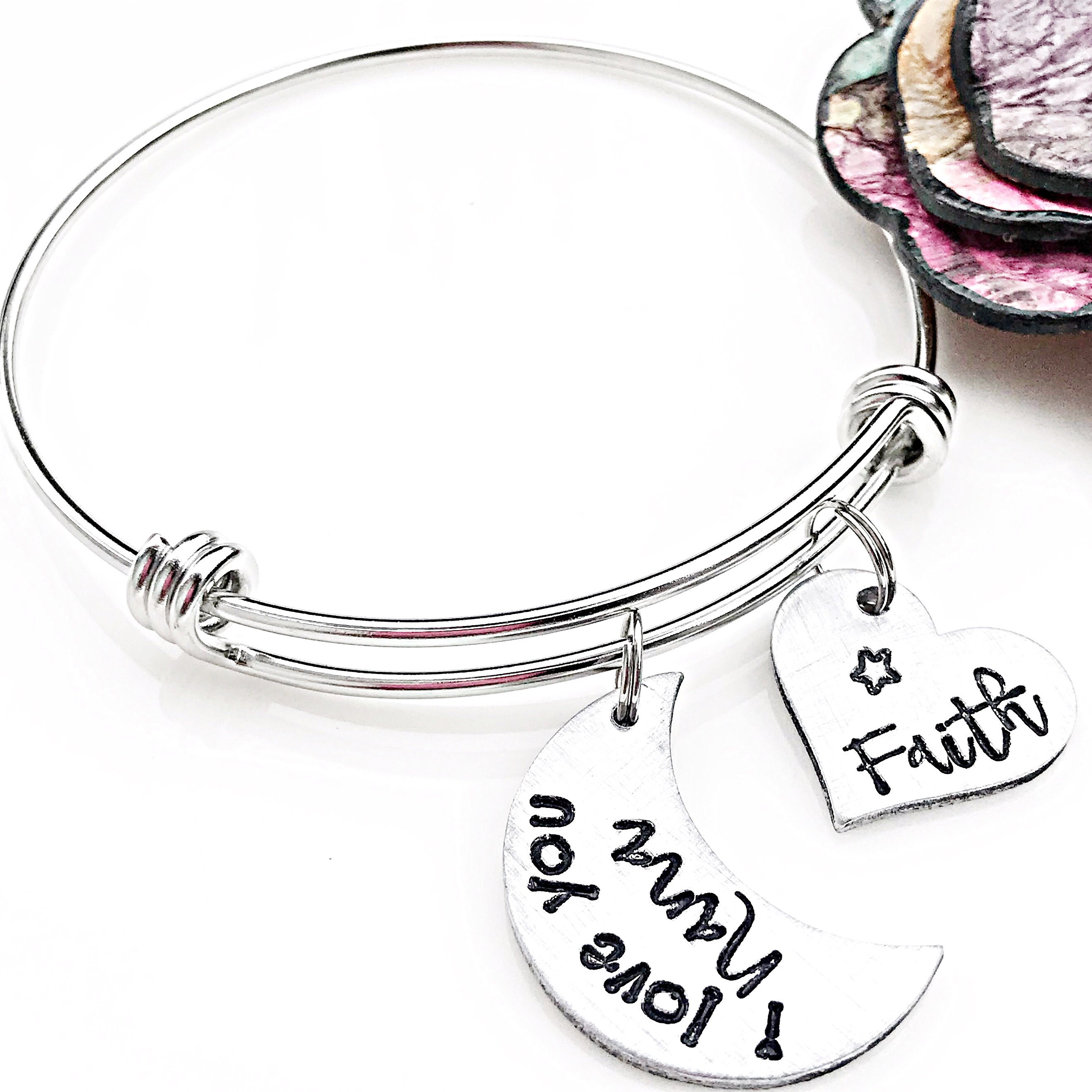 grandchild steel personalized bakers charm bracelet stainless pin