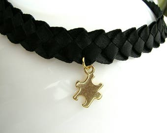 Сhoker puzzle Choker necklace Two-way choker Two way choker Reversible choker Party choker Christmas choker Two-way puzzle necklace