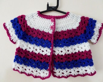 Handmade Crochet Baby Cardigan Designer