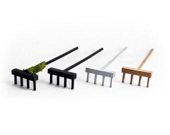 Zen Garden Rake // Zen Rake // 4 Tine // Tabletop Zen // 3D Printed // Sand Art // Miniature Tools // Zen Accessory // Meditation / Mini Zen