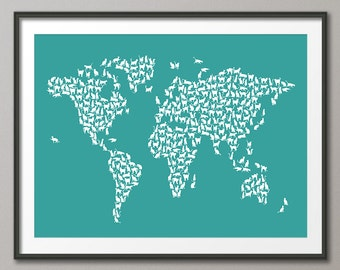 Cat world map etsy cats map of the world gumiabroncs Images