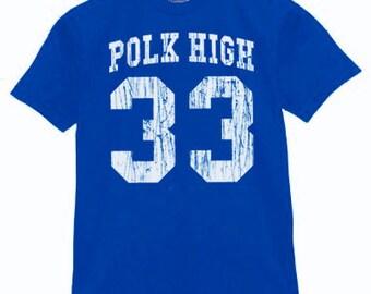 Al Bundy Polk High T Shirt blue movie bundy show shoe married with children