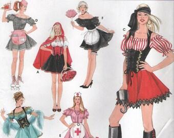 Simplicité 3618 Six Costumes Sexy PIRATE, femme de chambre, infirmière, plus les Instructions anglaises et espagnoles