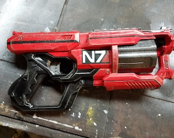 Red Mass Effect Inspired  N7 Nerf Pistol