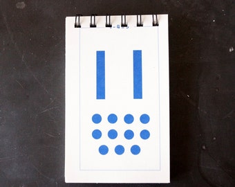 Vintage Flash Card Notebook, Number 11 (50 various pages) - Perfect for To-Do Lists, Shopping Lists, and Big Ideas