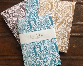 Recycled notebook (blank pages) Beachcomber design by Lou Tonkin