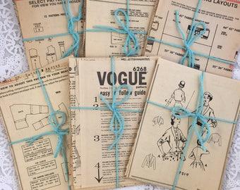 Sewing Pattern Paper, Sewing Pattern, Vintage Paper, Ephemera, Paper Ephemera, Vintage Ephemera, Scrapbooking, Junk Journal, Smash Book