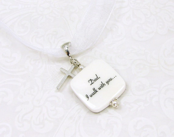 Wedding Bouquet Charm with a Sterling Silver Cross - BC3Ra