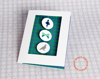 Curtsy Bow Coo Rebus Thank You Card