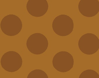 Half Yard Mischief  - Cookie Dots in Brown - Little Boy Fabric Line Designed by Nancy Halvorsen for Benartex (w880)