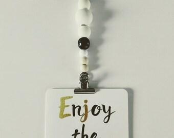 Garland-photo wooden beads, hanging-photo Locket, gift, baby decor