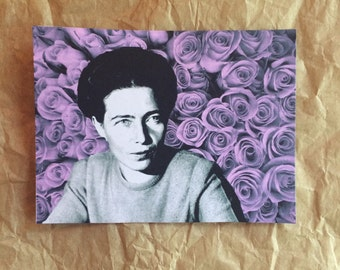 Simone de Beauvoir Flower Sticker