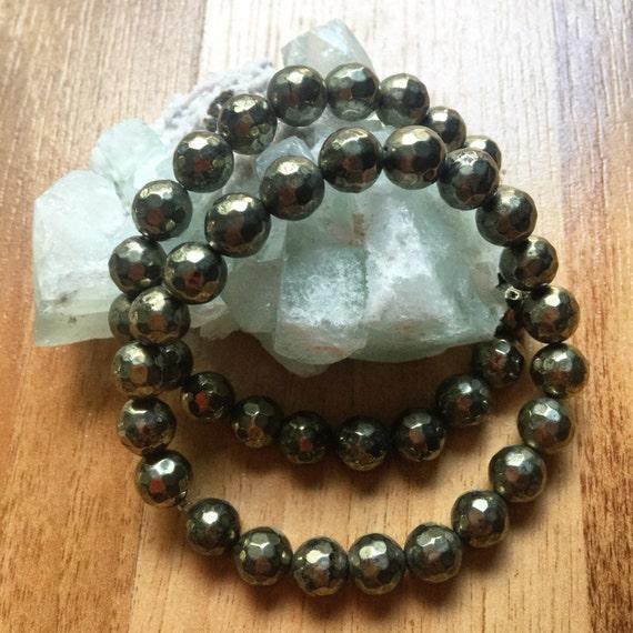 Handmade Authentic Pyrite Bracelet