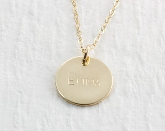 Gold Necklace Gold Pendant Necklace Solid Gold Name Necklace Gift For Her Gold Jewelry 14k Personalized Jewelry Custom Gold Necklace