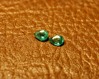 Natural, Colombian Emerald Gemstones, Hitch Quality - 4×3 mm.