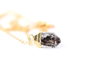 Quartz necklace - herkimer diamond necklace - rutilated quartz necklace - diamond quartz necklace - herkimer diamond - festival jewelry