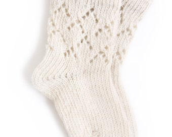 Babies/Children's knitted lambswool Lace Socks/stockings/toddler/white/gray/pink/winter/natural