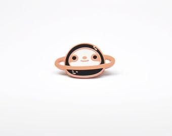 Planet Sloth enamel pin, sloth lapel pin, sloth lover gift for him, sloth hat pin, planet pin