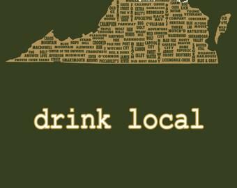 Drink Local- Virginia Beer T-shirt
