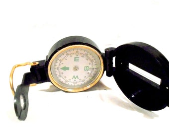 Engineer Directional Compass Plastic and Metal With Liquid Fill 1970 Pocket Sized Portable Compass Hunters Compass Hiker Compass BSA Compass