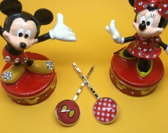 Oh My! - mouse Disneybound bobby pins. Hair slides, grips.