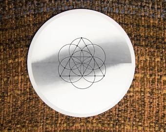 Solar Ternion Sacred Geometry Sticker - Vinyl Stickers, seed of life, energy, crystal grid, boho, merkaba, tarot, meditation, geometric