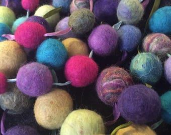 String of felt beads