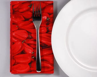 Red Hot Pepper Luncheon Napkin