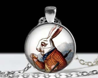 The White Rabbit Pendant Allice in Wonderland Pendant