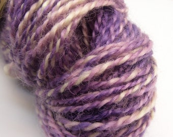 Wensleydale Wool Handspun and painted 108 yards for knitting and crochet