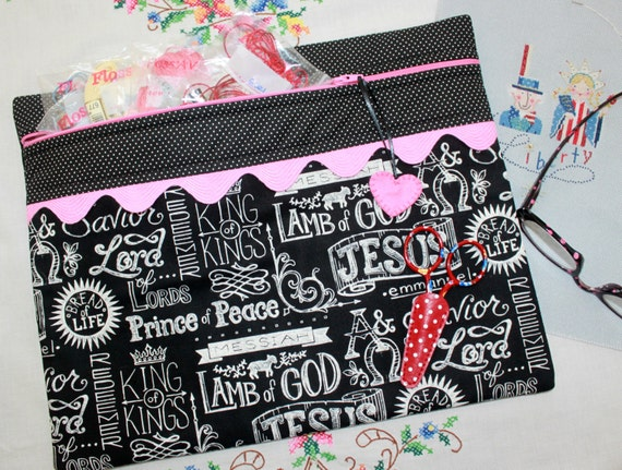 Jesus Chalk Art You Choose Colors Cross Stitch, Sewing, Embroidery Project Bag