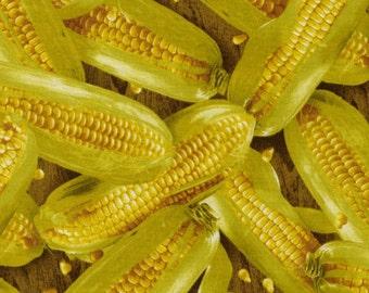 REMNANT PIECE - RJR Fabrics Farmer's Market Vegetable Corn Quilting Apparel Fabric
