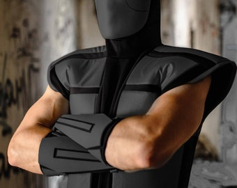Noob Saibot cosplay costume from The Ultimate Mortal Kombat 3, ninja outfit Halloween costume