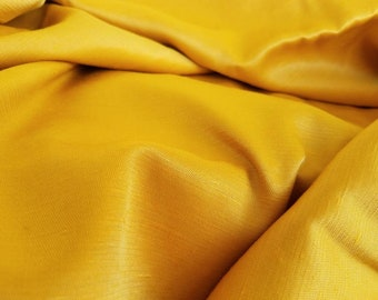 By The Yard Golden Silk Fabric - Vintage Gold Raw Silk Sewing Material, Sold By The Yard, Harvest Gold, Formal Dress Fabric, Couture Fabric