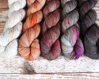 PREORDER - Five Skein Fade Kit #4 - Hand Dyed Yarn