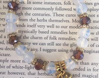 ELEPHANT opalite charm bracelet
