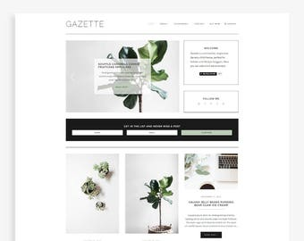 Gazette • Responsive Blogger Template • Fashion Blog Theme • Minimalist Blog Design.