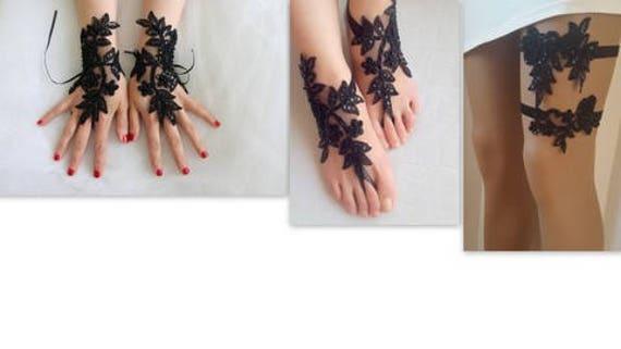 fingerless Express toss gloves accessores garter black garter sets bridal garters Shipping wedding 3 barefoot of sandals garters Y1Xw4qqZn
